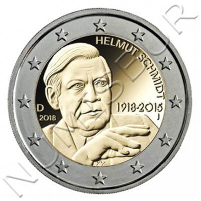 2€ GERMANY 2018 - Centenary of the Birth of Helmut Schmidt