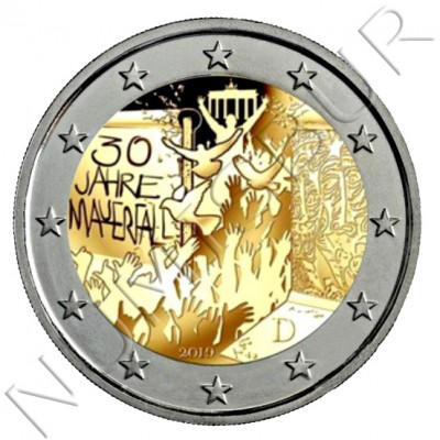 2€ GERMANY 2019 - 30 aniv. fallen wall Berlin