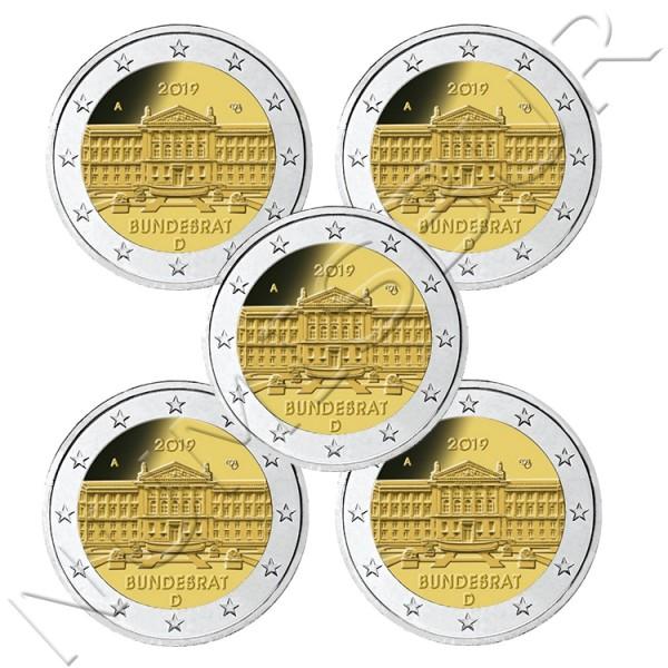 2€ ALEMANIA 2019 - Bundesrat