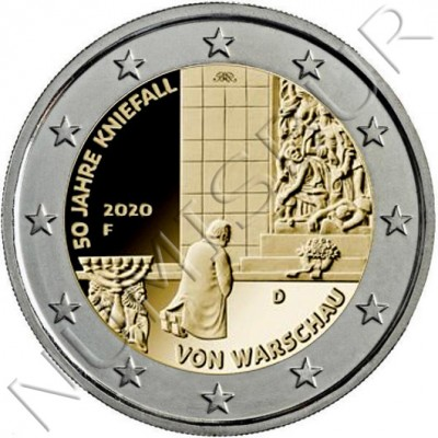 2€ GERMANY 2020 - 50th anniversary of kneeling
