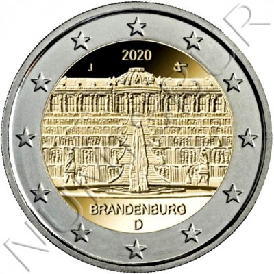 "2€ GERMANY 2020 - Brandenburg ""Sanssouci Palace"""