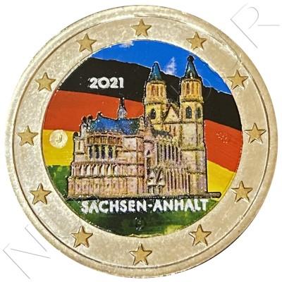 2€ GERMANY 2021 - Sachsen Anhalt (COLORED)