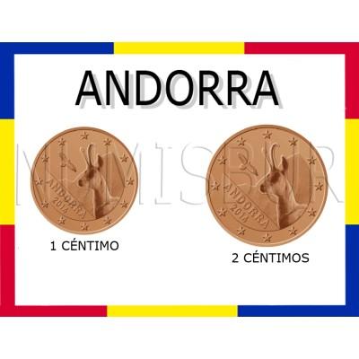 1, 2 cents ANDORRA 2014 - S/C