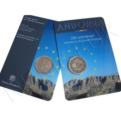 2€ ANDORRA 2014 - 20 aniv. consejo Europeo