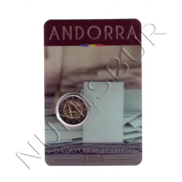 2€ ANDORRA 2015 - 30 aniv. reconocimiento mayoria de Edad