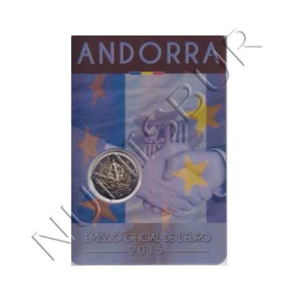 2€ ANDORRA 2015 - 25 aniv. acuerdo aduenero con la UE