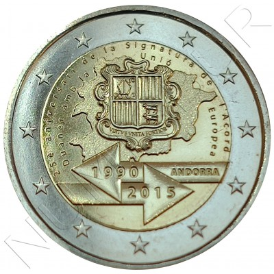 2€ ANDORRA 2015 - 25 aniv. customs agreement with the EU (SIN BLISTER)