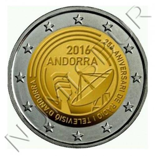2€ ANDORRA 2016 - 25 años de radio television