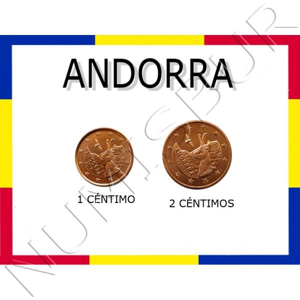 1, 2 centimos ANDORRA 2017 - S/C