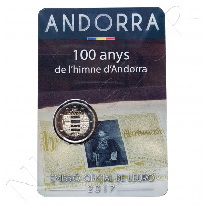 2€ ANDORRA 2017 - Anthem of Andorra