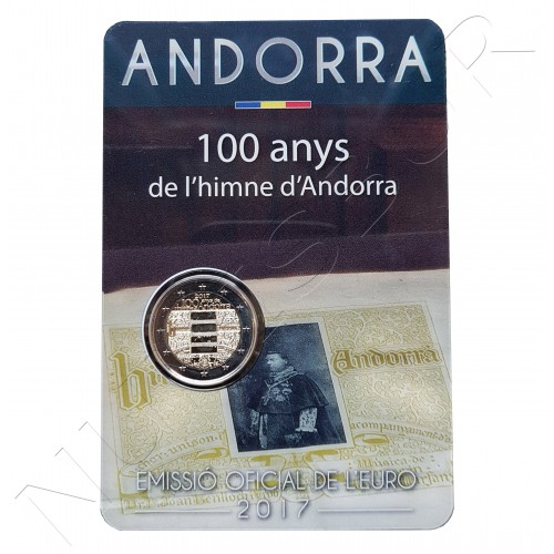 2€ ANDORRA 2017 - Himno de Andorra (RESERVA)