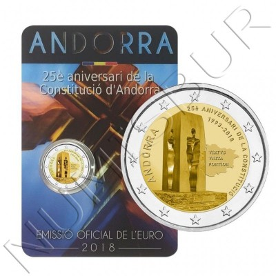 2€ ANDORRA 2018 - 25th anniversary of the Constitution