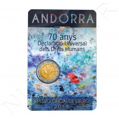 2€ ANDORRA 2018 - 70 aniv. Universal Declaration of Human Rights.
