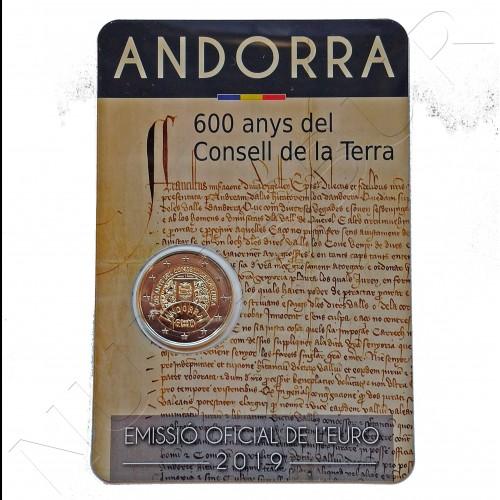 2€ ANDORRA 2019 - 600 years land advice