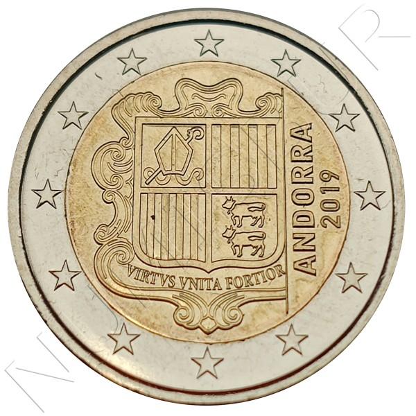 2€ ANDORRA 2019 - Circulated UNC