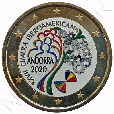 2€ ANDORRA 2020 - XXVII Ibero-American Summit  (COLORED)