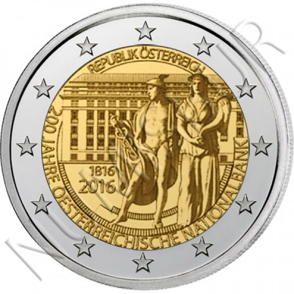 2€ AUSTRIA 2016 - 200 years of Nacional Bank