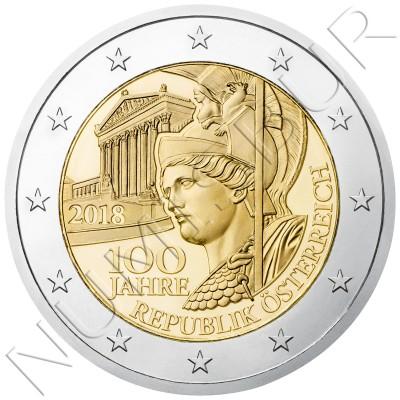 2€ AUSTRIA 2018 - 100 aniversario republica Austria