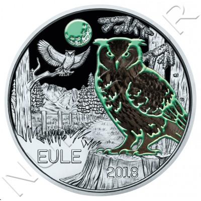 3€ AUSTRIA 2018 - Eule