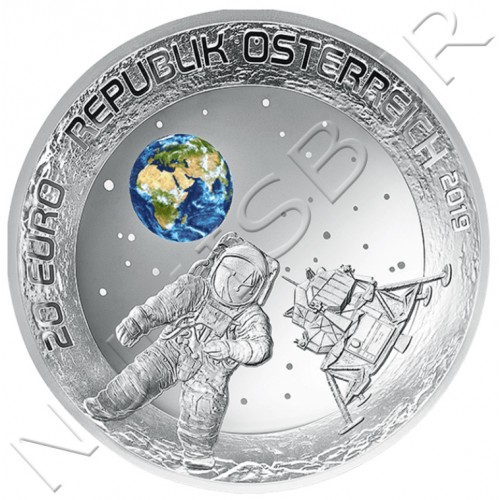 20€ AUSTRIA 2019 - 50th anniversary of the landing of the moon