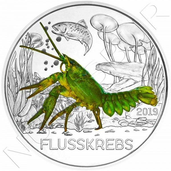 3€ AUSTRIA 2019 - The crayfish