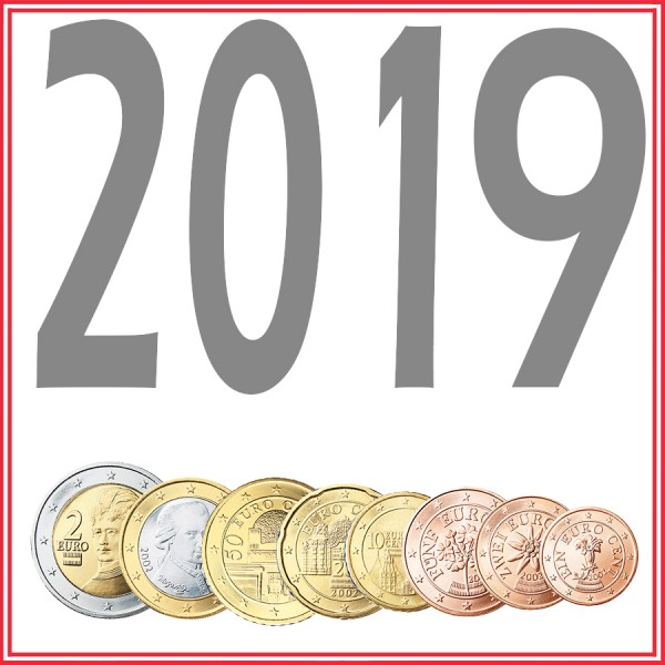 Tira AUSTRIA 2019 - 8 coins