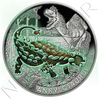 3€ AUSTRIA 2020 - Ankylosaurus
