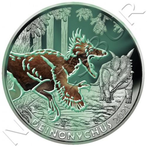 3€ AUSTRIA 2021 - Deinonychus Antirrhopus