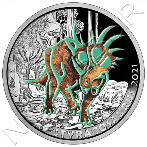 3€ AUSTRIA 2021 - Styracosaurus Albertensis