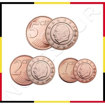 1, 2 y 5 centimos BELGICA 1999 / 2000 - S/C
