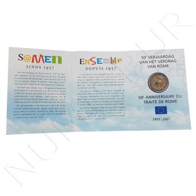 2€ BELGICA 2007 - Tratado de Roma FDC