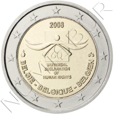 2€ BELGICA 2008 - Derechos Humanos