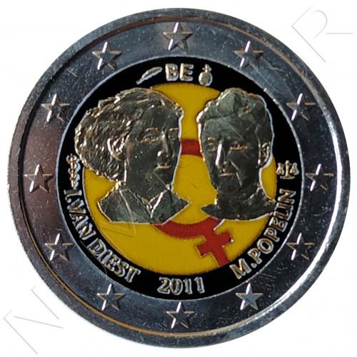 2€ BELGICA 2011 - Dia de la mujer trabajadora (COLOR)
