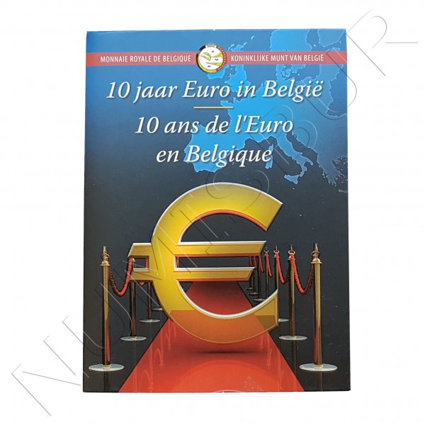 2€ BELGICA 2012 - 10º aniv. EURO FDC