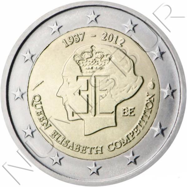 2€ BELGIUM 2012 - 75 aniv. Queen Elisabeth musical contest