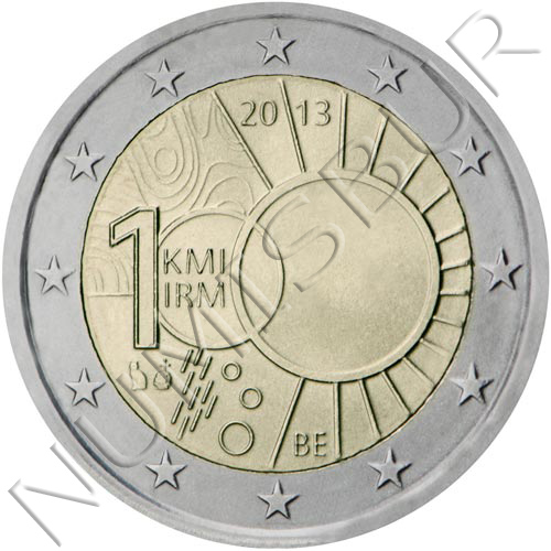 2€ BELGIUM 2013 - 100 years old meteorological institute