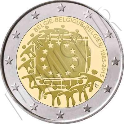 2€ BELGICA 2015 - XXX aniv. de la bandera Europa