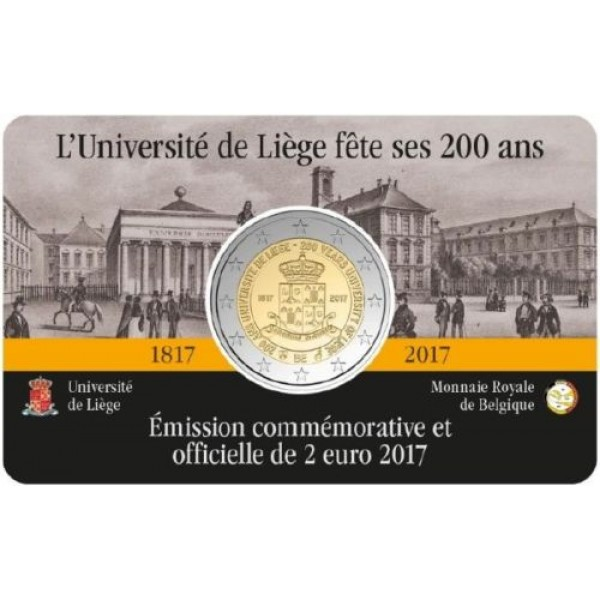 2€ BELGICA 2017 - Universidad de Lieja (Version Francesa)