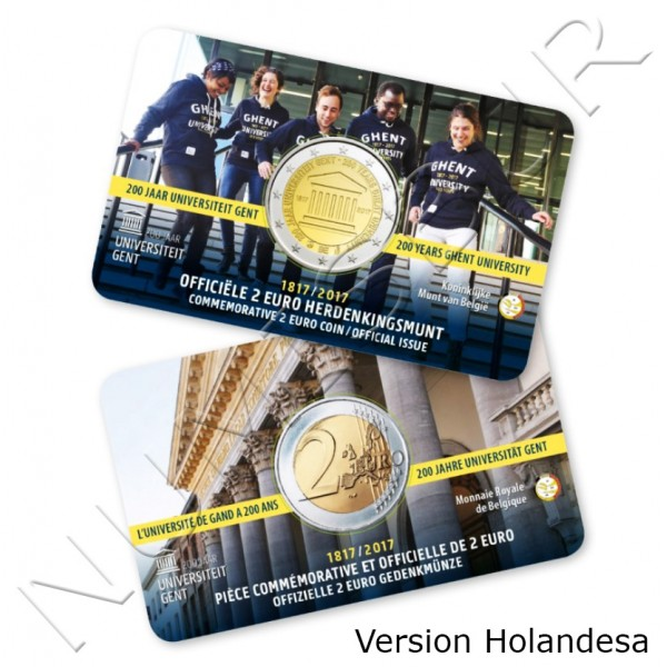 2€ BELGICA 2017 - Universidad de Gent (Version Holandesa)