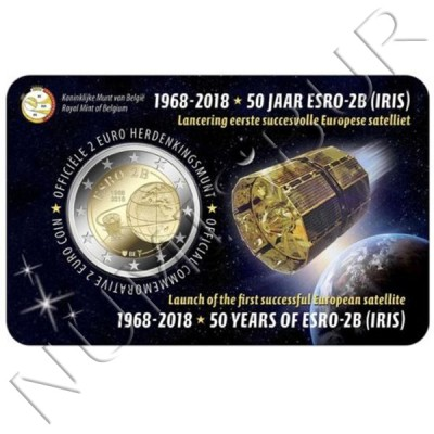 2€ BELGIUM 2018 - 50 years of the ESRO 2B satellite