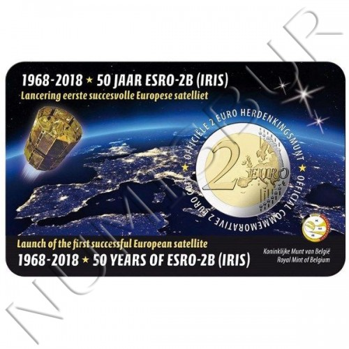 2€ BELGICA 2018 - 50 años del satélite ESRO 2B (Version Francesa)