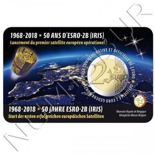 2€ BELGICA 2018 - 50 años del satélite ESRO 2B (Version Holandesa)