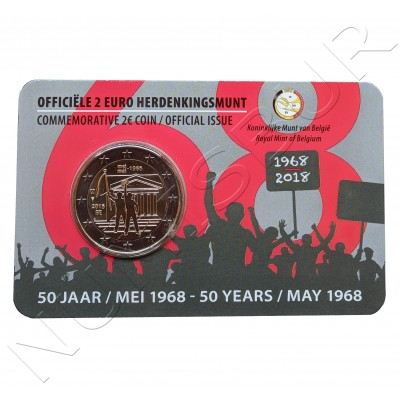 2€ BELGICA 2018 - Revuelta estudiantil 1968 (Version Holandesa)