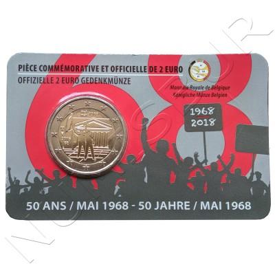 2€ BELGICA 2018 - Revuelta estudiantil 1968 (Version Francesa)