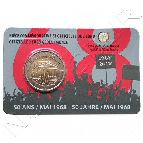 2€ BELGICA 2018 - Revuelta estudiantil 1968 (Version Francesa)