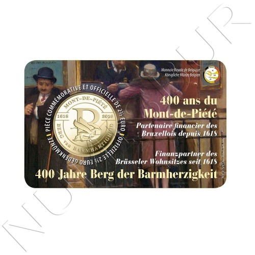 2,5€ BELGICA 2018 - 400 años el Mont de Piété (VER. FRANCESA)
