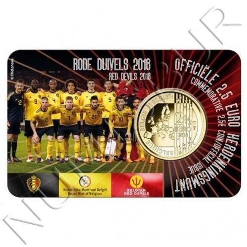 2.5€ BELGICA 2018 - Mundial futbol Red Devils