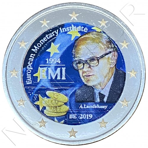 2€ BELGIUM 2019 - 25th year of the European Monetary Institute (COLORED)