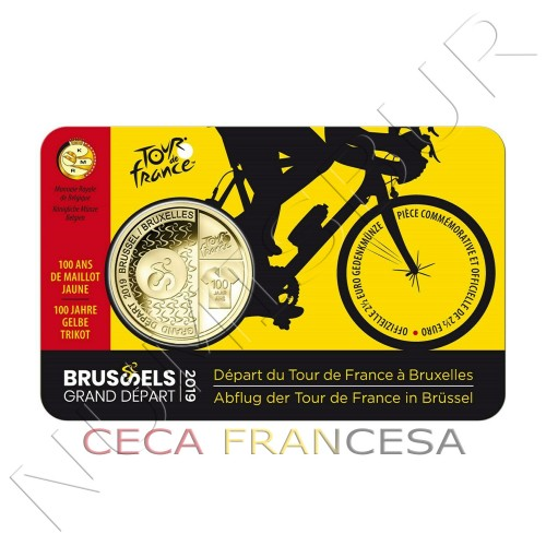 2.5€ BELGIUM 2019 - 100 years with the yellow malliot TOUR DE FRANCE