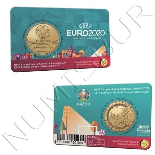 2.5€ BELGIUM 2021 - EUFA 2020
